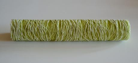 Organza s penovým vzorom - 39cm / 5m - zelená,