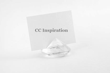 Stojan na menovku diamant - číre ( 10ks ),