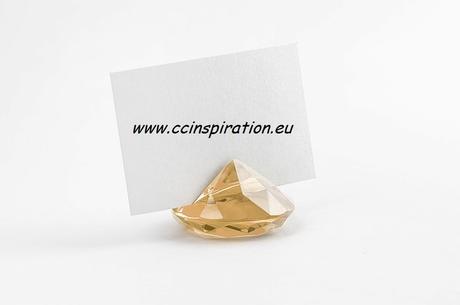 Stojan na menovku diamant - zlatý ( 1ks ),