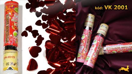 Vystreľovacie konfety - červené srdiečka,