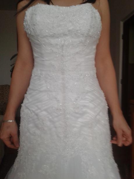 Svadobné šaty čipkované v. 8, 38