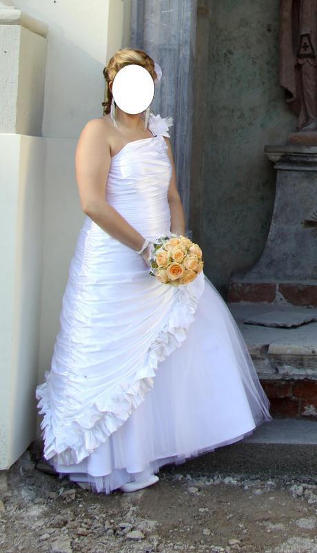 svadobne šaty veľ 44+, 44