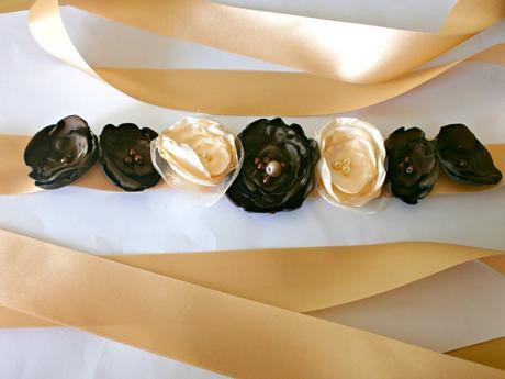 Pásek na šaty pro družičku i nevěstu, M