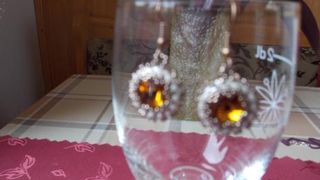 Nenosené náušnice so Swarovski kameňom,