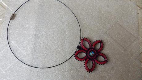 Nenosený náhrdelník so Swarovski kameňom,