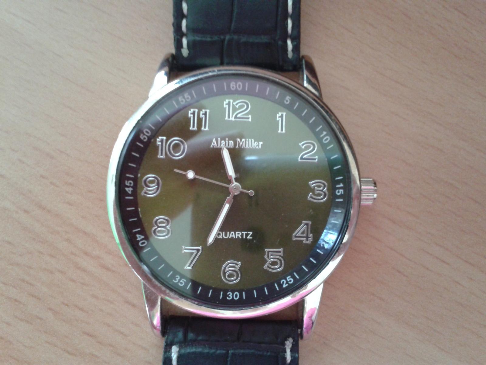 ef997ac9f3e Černé unisex hodinky alain miller