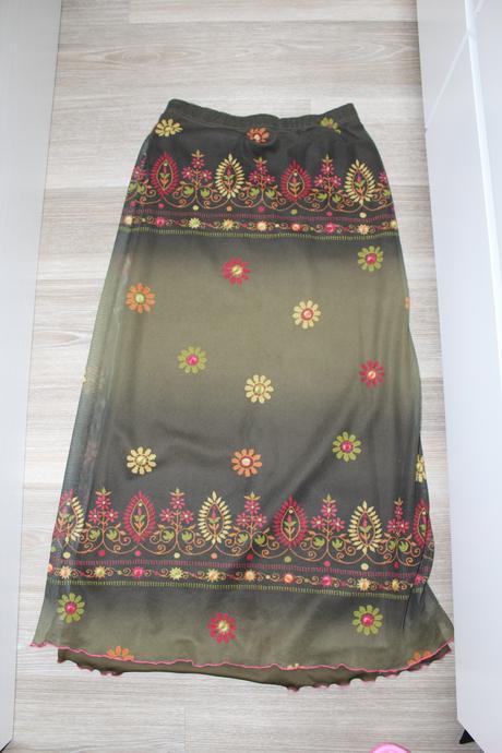 Dlouhá sukně s květinovým vzorem zn. KappAhl, S