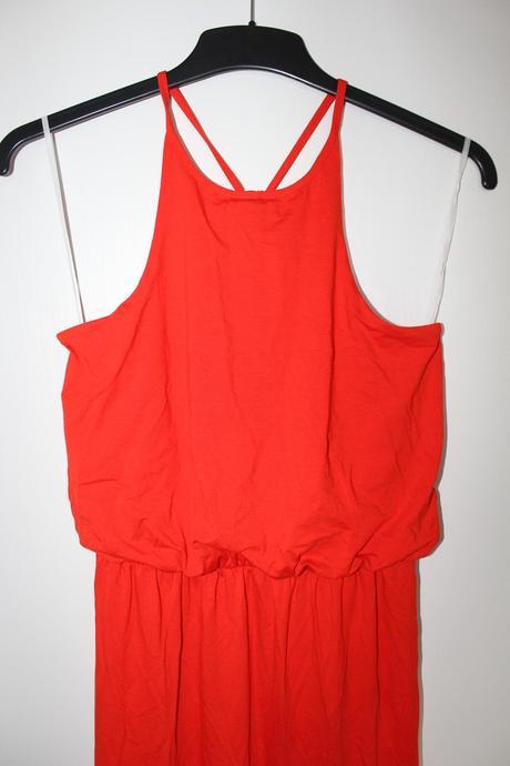 Dlouhé červené šaty na ramínka - 38, 38