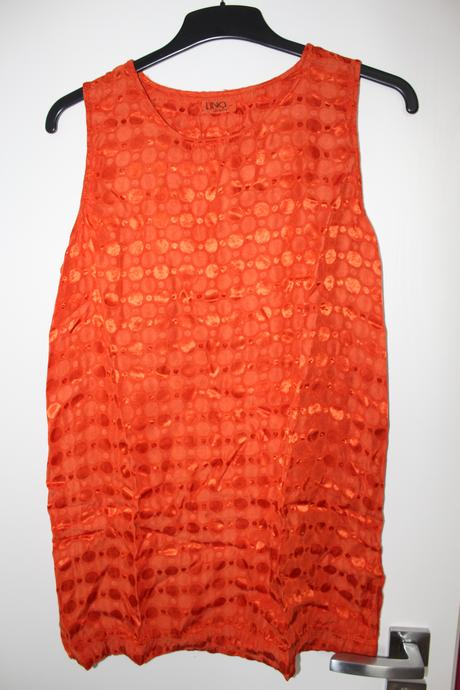 Oranžová halenka blůzka bez rukávů, 40