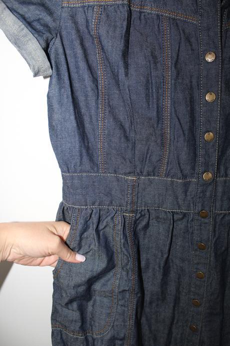 Riflové jeanové šaty zn. Cubus, 38