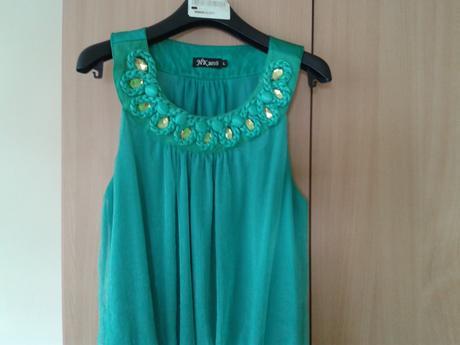 Zelená halenka/tunika - italská móda, L