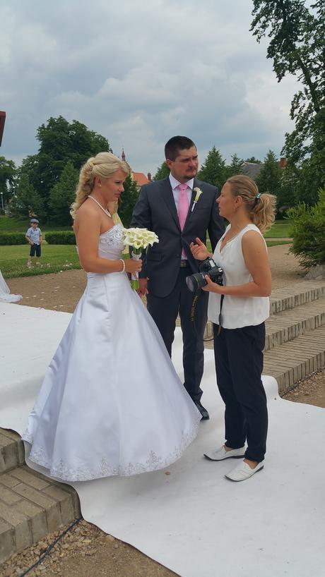 svatební šaty vel.38,40, 38
