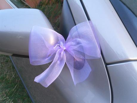 Mašle na zrcátka, lila - fialové. ,