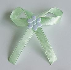 Jablíčkově zelené svatební vývazky,