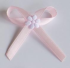 Světle růžové svatební vývazky,