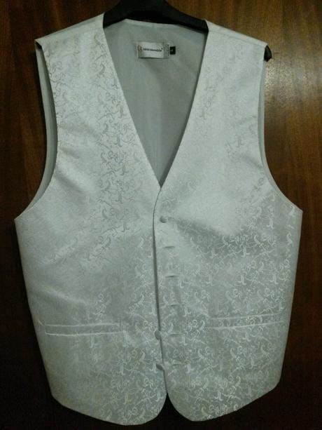Svadobná vesta ORSI, kravata, vreckovka, 40