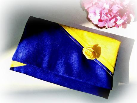 Lesklé saténové žluto-modré, M