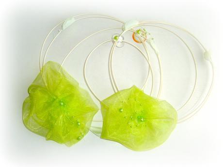 Zelené jablko květy+kruhy-sleva,