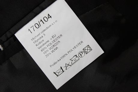 Pánsky čierny oblek (sako + nohavice), 50