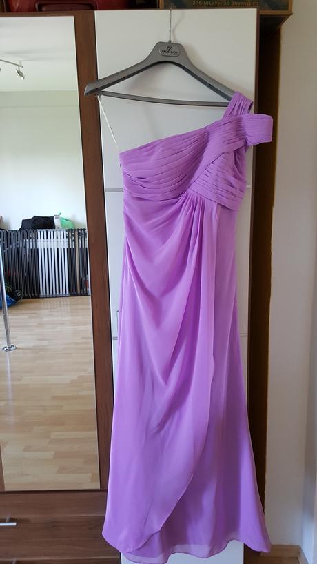 Antické lila šaty pro družičku (i pro těhotné), 36