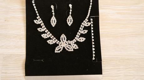 Svatební sada, náramek, náušnice, náhrdelník,