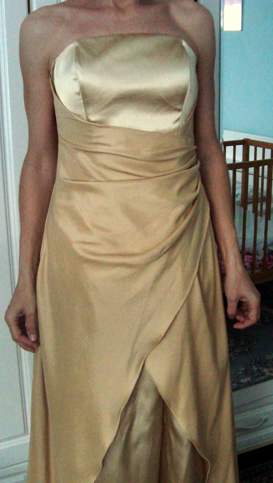 Zlaté společenské šaty vel 38 59b43f78b4