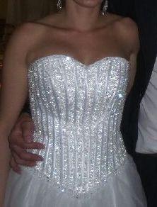 Svadobné Snehobiele šaty UNI - 36-40 - 36 - 36 , 36