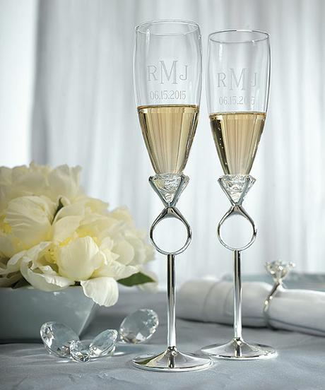 Svadobné poháre - Diamantový prsteň,