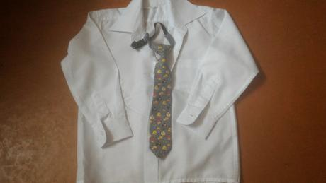 biela košielka a kravata angry birds, 122