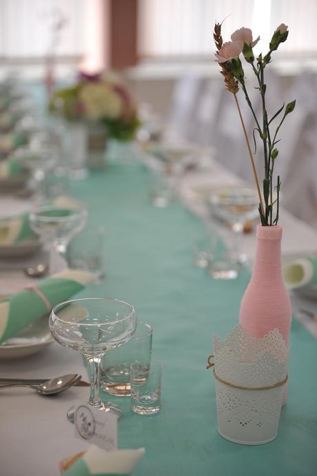 Svadobná výzdoba ( Mentolová/Ružová/Biela),