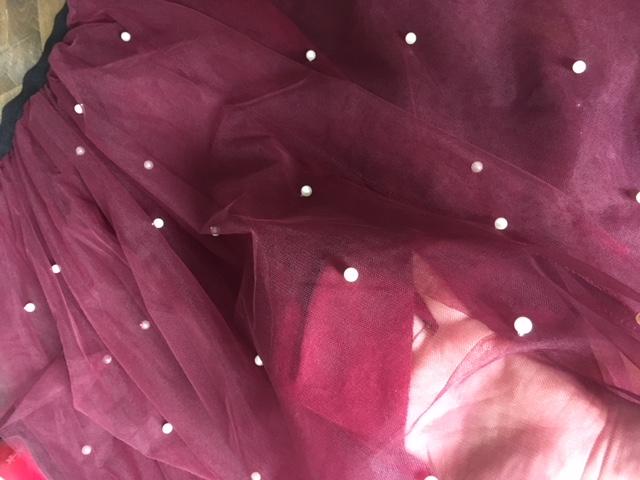 cc0f5a9eda17 Tutu tylová sukňa s perlami