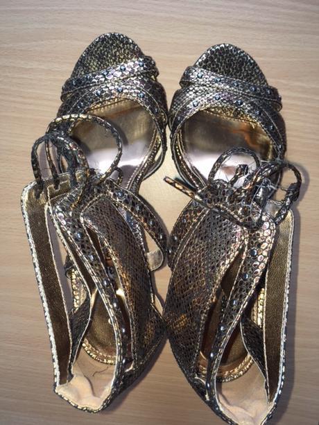 64ab8aee8387 Šnurovacie goerge sandálky metalické zlaté