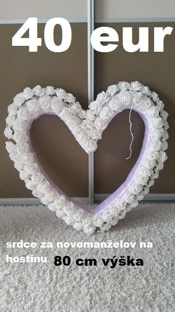 srdce za novomanželov,