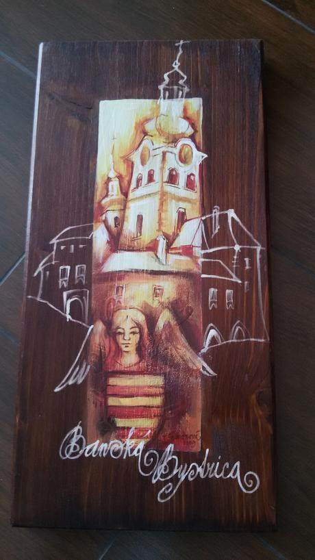 drevený obraz,