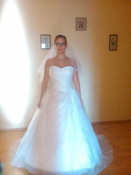 Svadobné šaty komplet s kruhom,zavojom + darcek , 42