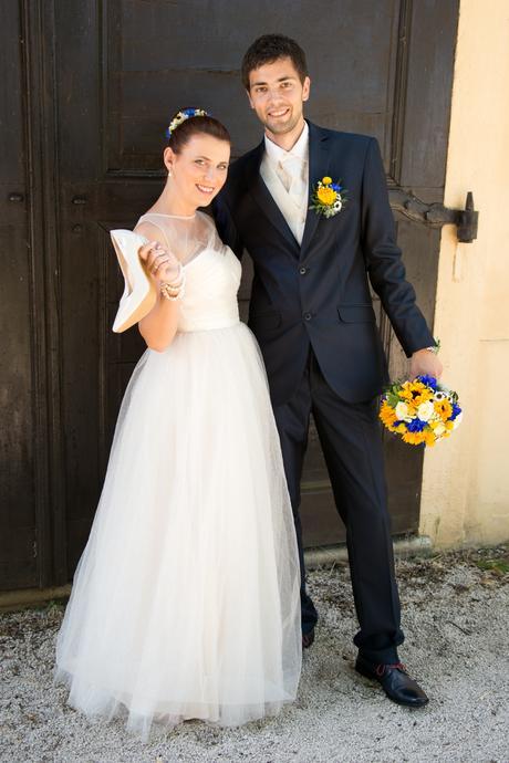 Ľahké tylové svadobné šaty, 38