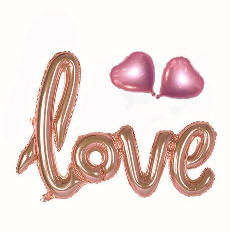 Balon Love + 2 srdiečka + nafukovač,