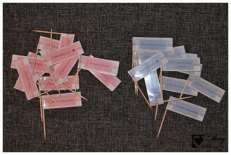 Papierové vlajky do koláčikov,