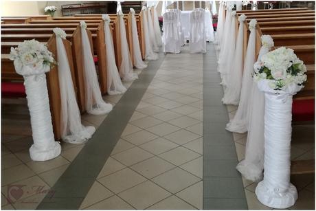 Svadobná dekorácia -stlp,