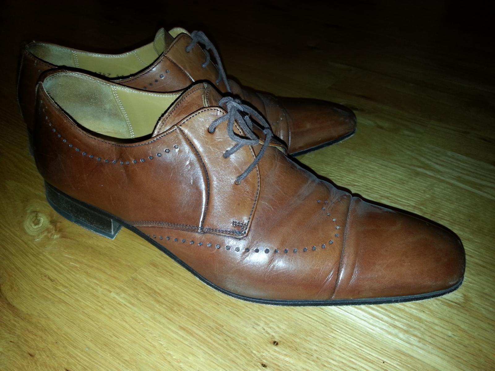 Kožené boty salamander c28f4327f1
