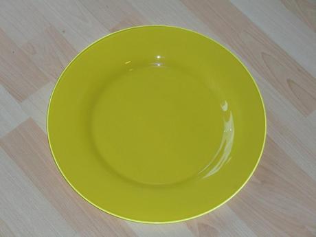 Žluté skleněné XXL talíře - 2 ks v balení ,