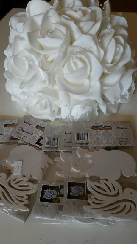 Buket z bílých růží,