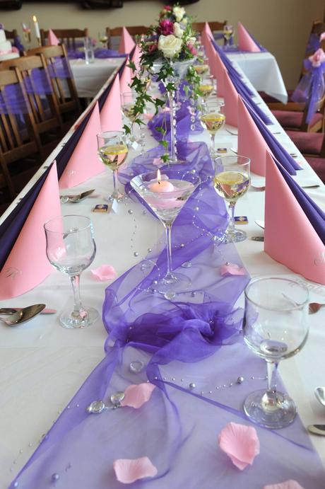 Celá svatební výzdoba na stoly a auto,