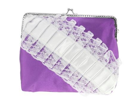 dámská kabelka krajková fialová svatební,