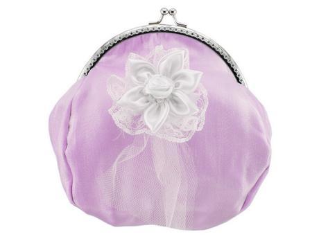 Fialová kabelka svatební, kabelka pro nevěstu ,