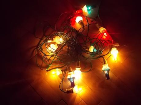 Retro vianočné svetielka,