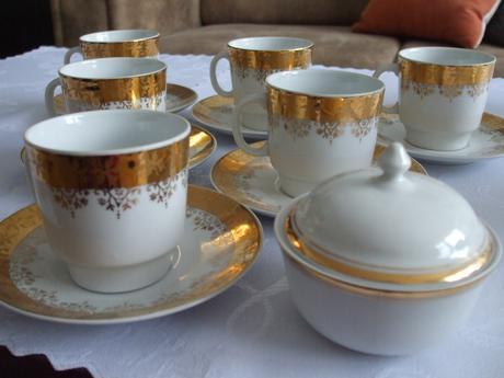 Porcelánová kávová, čajová súprava,