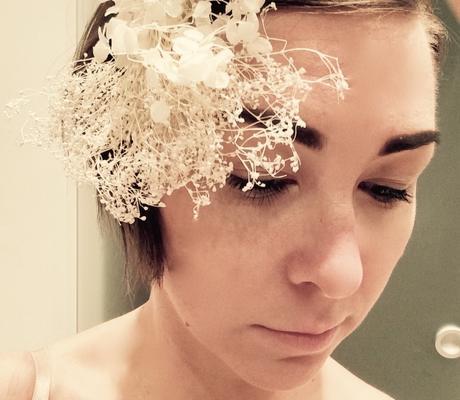 Vintage boho květinová ozdoba pro nevěstu,