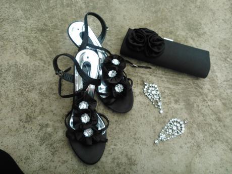 čierne sandalky, 39