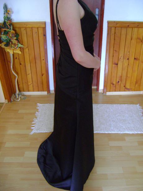 čierne dlhé decentné šaty veľkosť 36, 36